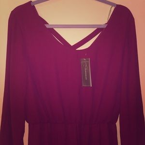 NWT Francesca's long-sleeved dress